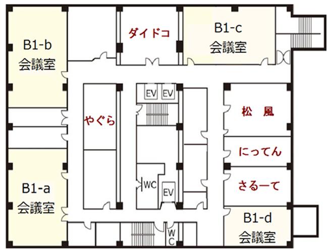 福岡商工会議所の貸会議室B1F