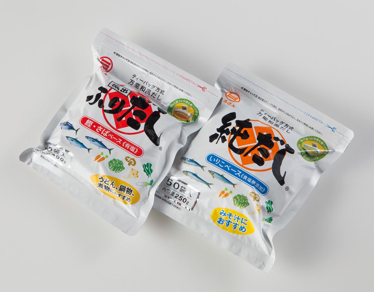 ふりだし・純だし(各50袋入・各1501円)【丸三食品㈱】