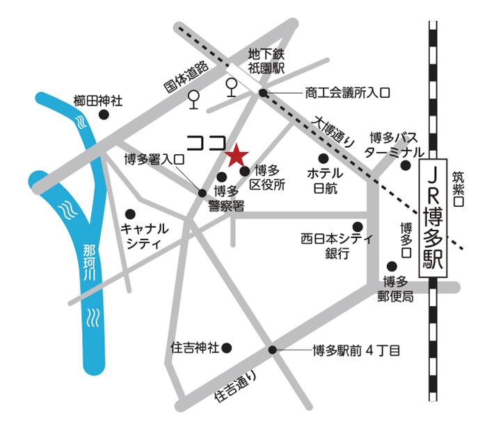 福岡商工会議所 MAP
