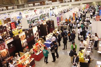 国内外食品商談会(BtoB)展示ブースの様子