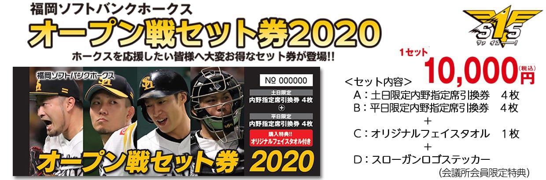 福岡ソフトバンクホークス オープン戦セット券2020