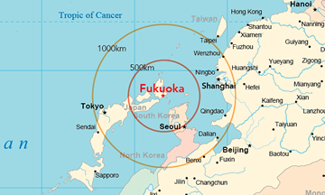 Fukuoka is an international city in Asia.